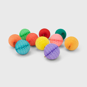 Honeycomb Paper Ball Decoration Set