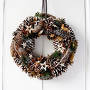 Pinecones And Green Spruce Illuminated Wreath