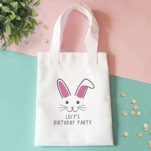 Personalised Cute Bunny Party Bag - personalised