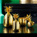 Gold Pineapple Goblet With Lid