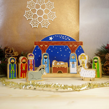 Children's Toy Starry Night Nativity Set