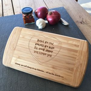 Personalised Valentine Gift Chopping Board - cooking & food preparation