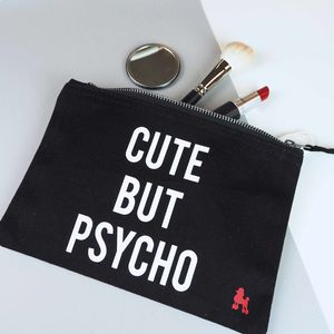 Cute But Psycho Make Up Bag - halloween spooky beauty