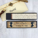 Pride And Prejudice Jane Austen Pencil Set