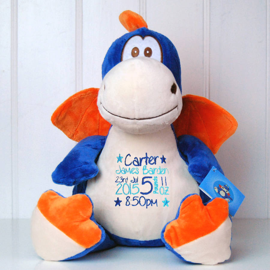 0c13aaa440 Dragon 1. Personalised New Baby Dragon Soft Toy. Dragon 2. Text Colours.  Font Styles. Illustration Choices. Birth Square Layout Examples