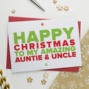 Christmas Card For Amazing Auntie And Uncle