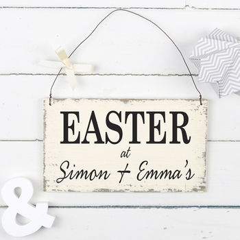 Personalised Vintage Style Easter Sign