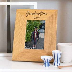 Modern Typography Graduation Photo Frame - picture frames