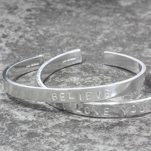 Sterling Silver Chunky Stamped Cuff Bangle