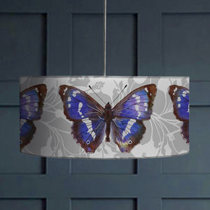 Purple Emperor Butterfly Lampshade - lamp bases & shades