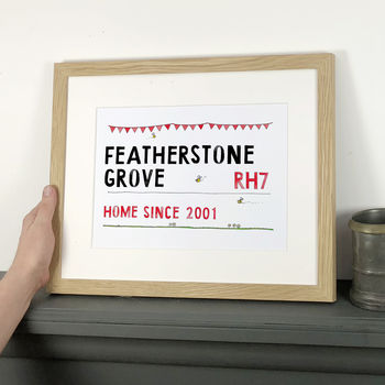 Personalised Street Sign Print