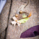Leafy Berry Alternative Grooms Wedding Buttonhole