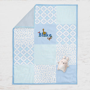Personalised Baby Blanket Zoo - children's room
