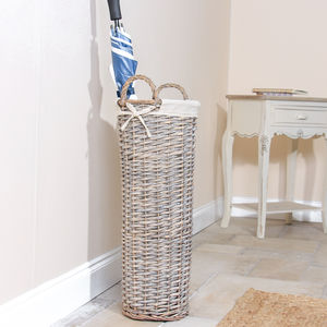 Saule Pluvieux Wicker Vertical Umbrella Basket - baskets