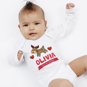 Personalised First Christmas Reindeer Vest - gifts: under £25