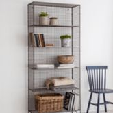 Grey Mesh Industrial Storage Unit - home
