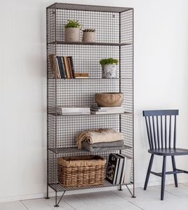 Grey Mesh Industrial Storage Unit - furniture
