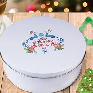 Personalised Christmas Cake Tin - christmas home accessories