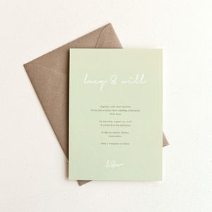 Love Letter Wedding Invitation / Sage - invitations