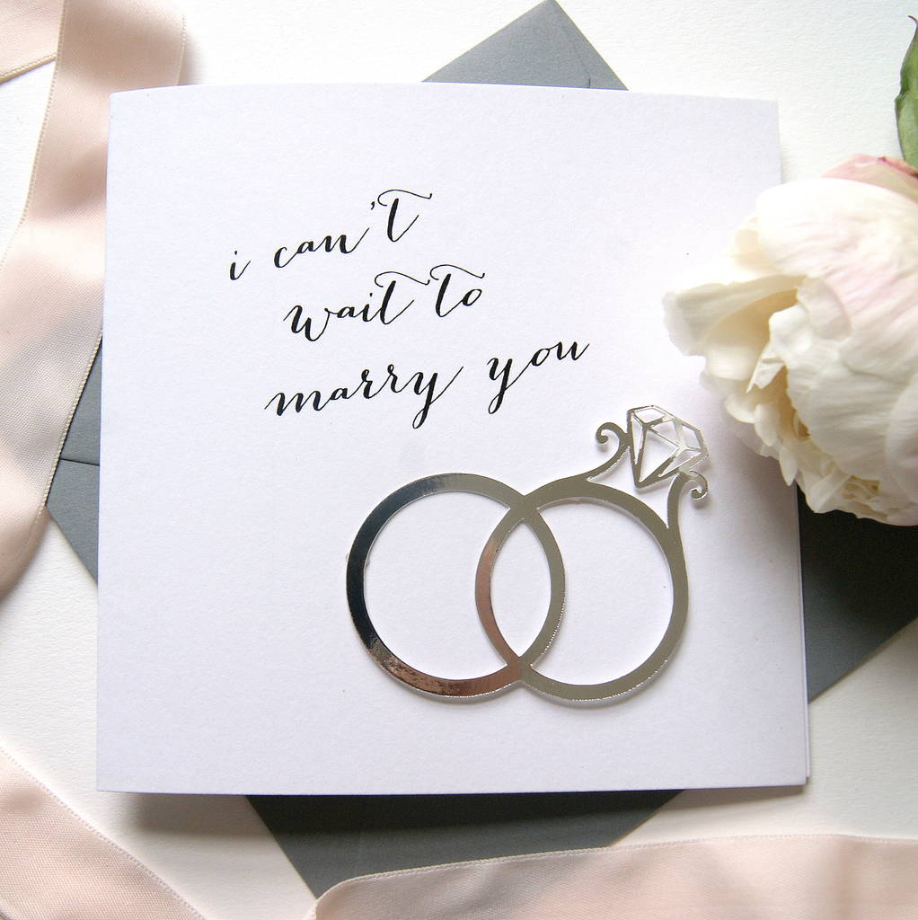 wedding card \'i can\'t wait to marry you\' by the hummingbird card ...