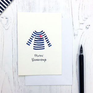 Breton Design 'Merci' Thank You Card
