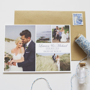 Personalised Wedding Thank You Postcards - wedding cards