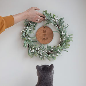 Mistletoe Personalised Christmas Wreath - our favourite decorations