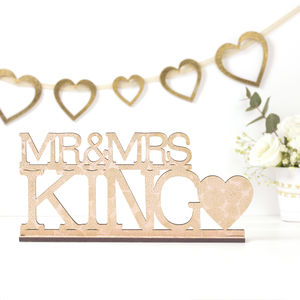 Mr And Mrs Personalised Wedding Sign - room decorations