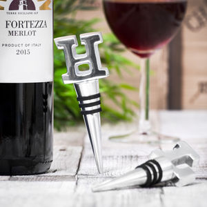 Alphabet Wine Bottle Stopper - 50th birthday gifts