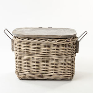 The Kingston Wooden Top Basket - log baskets