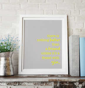 Gin Friendship - posters & prints