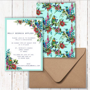 Hummingbird Party Invitations