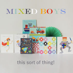 Mixed Set Of Boys Cards - blank cards