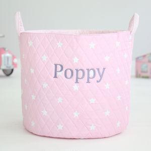 Personalised Pink Star Storage Bag - children's storage
