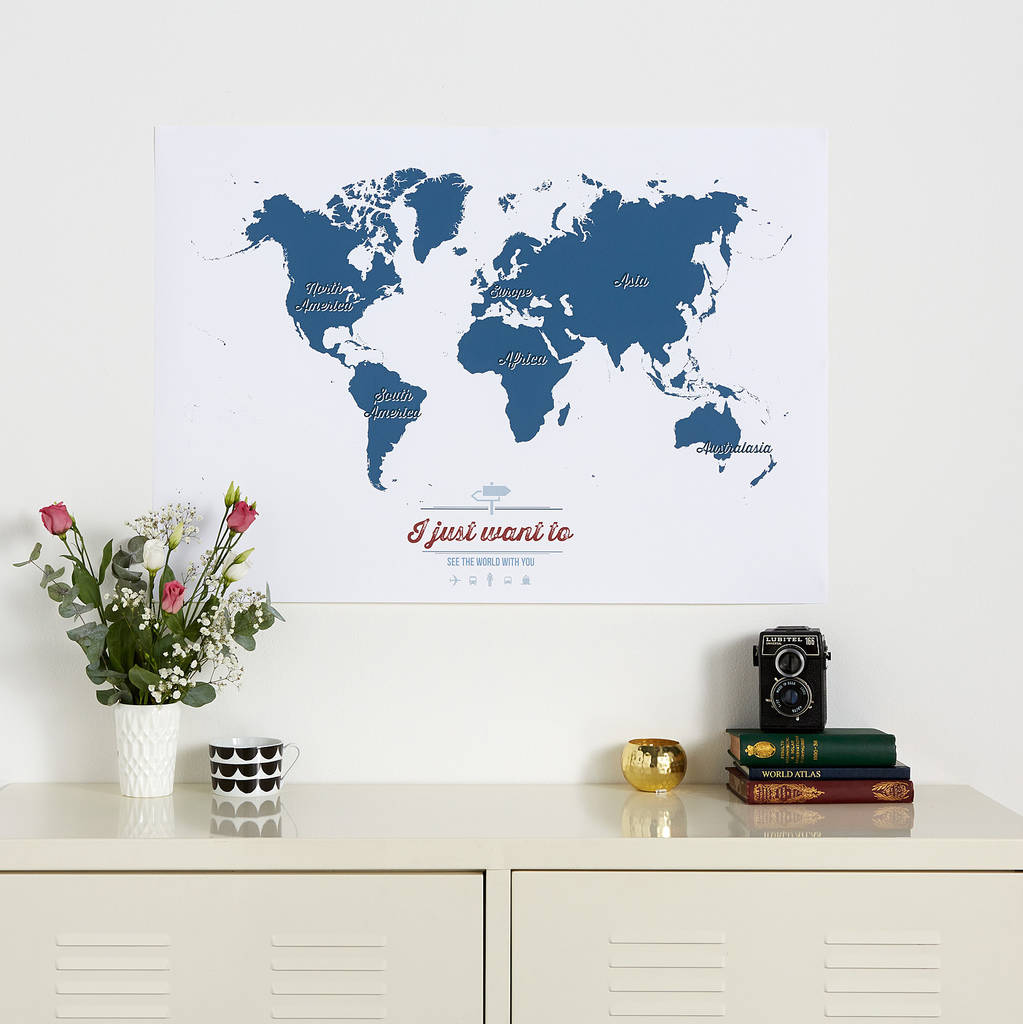Personalised world travel map by maps international personalised world travel map gumiabroncs Gallery