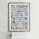 Shipping Forecast Typography Print White Background