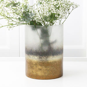 Copper Graduated Glass Vase - flowers, plants & vases