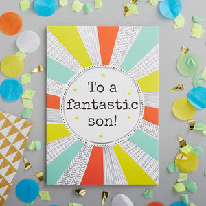 Birthday Card For Your Son