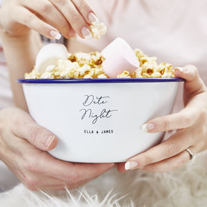 Personalised Date Night Popcorn Bowl - tableware