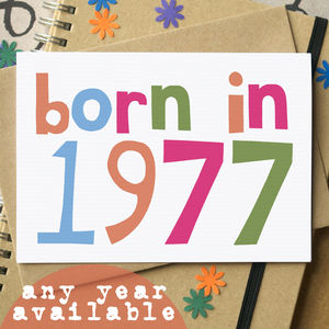 'Born In…' Birthday Card