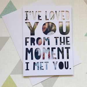 Personalised 'I've Loved You' Photo Papercut Card - shop by category