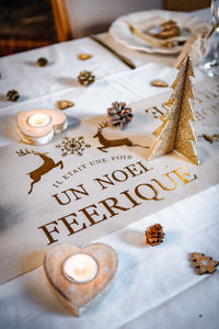 Noel Feerique Luxury Fabric Christmas Table Runner - table decorations