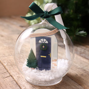 Personalised Family Door Bauble