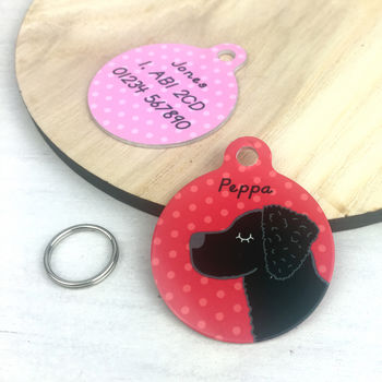 Curly Coated Retriever Personalised Dog ID Tag