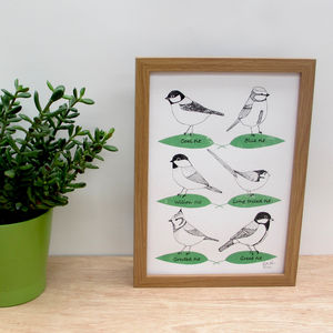 'Garden Birds A Two Colour Screen Print