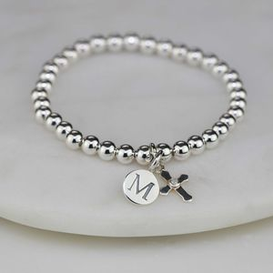 Personalised Children's Silver Christening Bracelet - baby & child