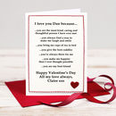 'Reasons I Love You' Personalised Valentines Card