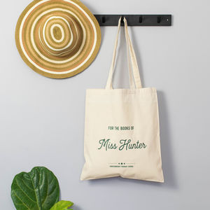 Personalised 'For The Books Of…' Teacher's Tote Bag - gifts for teachers