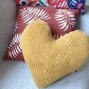 Knitting Pattern Big Heart Cushion