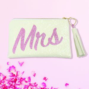 Meet The Mrs Glitter Clutch Bag